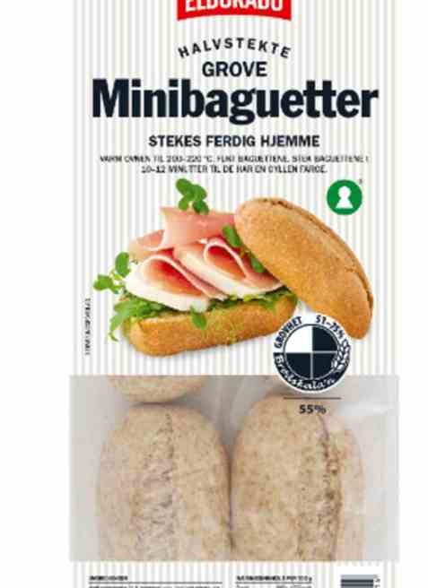 Bilde av Eldorado minibaguetter grove halvstekte.