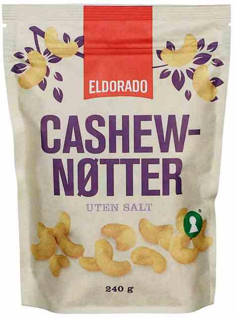 Bilde av Eldorado cashewnøtter usaltet 240 gr.