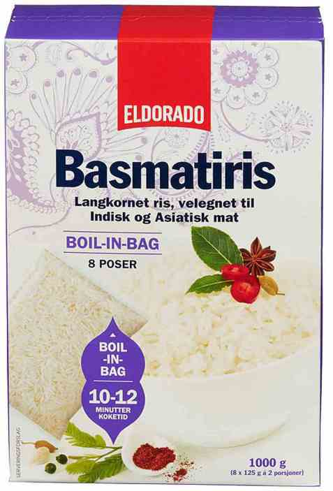 Bilde av Eldorado basmatiris boil in bag 1kg.