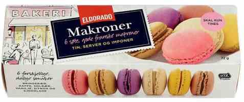 Bilde av Eldorado makroner.