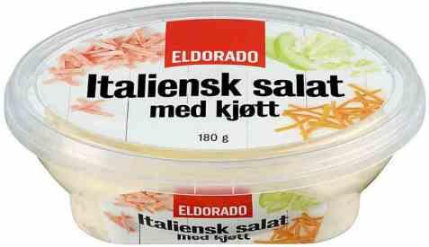 Bilde av Eldorado italiensk salat med kjøtt.