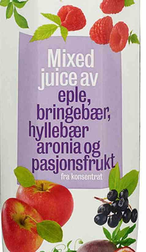 Bilde av Eldorado bringebær og hylleblomst juice.