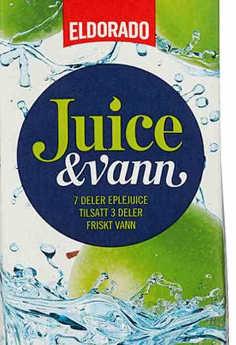 Bilde av Eldorado juice og vann eple.