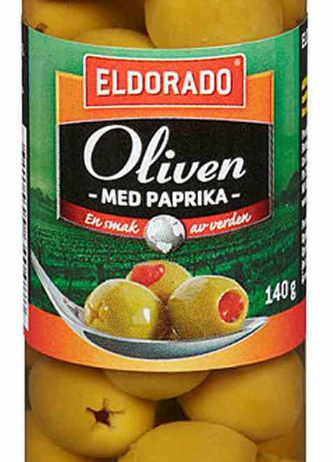 Bilde av Eldorado oliven med paprika.