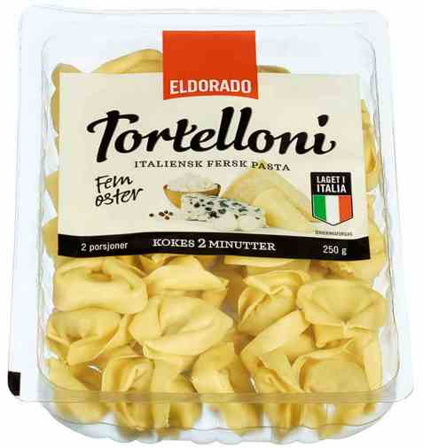 Bilde av Eldorado tortelloni med ost.