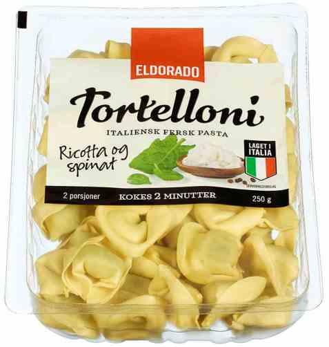 Bilde av Eldorado tortelloni med ricotta og spinat.