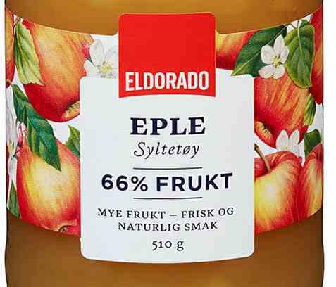 Bilde av Eldorado eplesyltetøy.