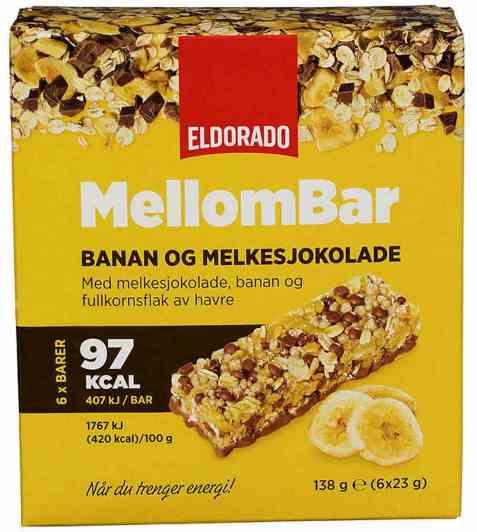 Bilde av Eldorado mellombar banan og melkesjokolade.