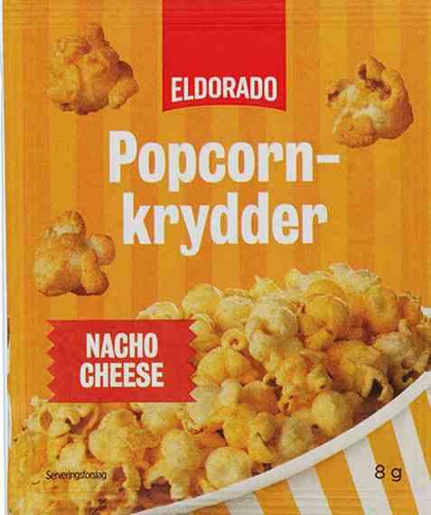Bilde av Eldorado popcornkrydder nacho cheese.