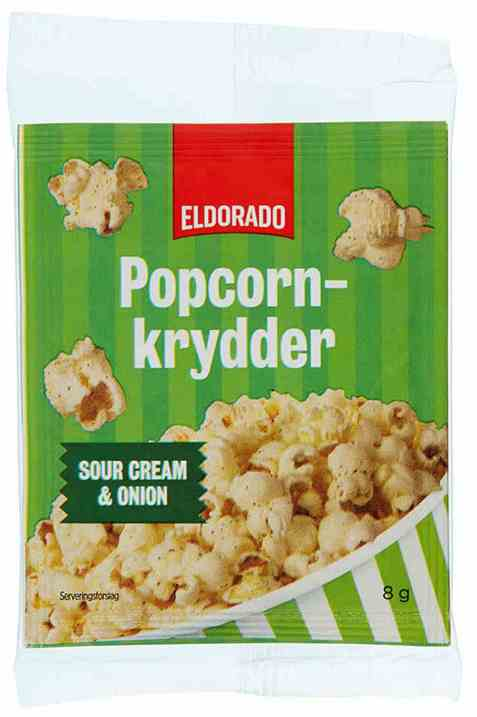 Bilde av Eldorado popcornkrydder sourcream and onion.