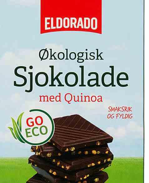 Bilde av Eldorado økologisk sjokolade mørk quinoa.