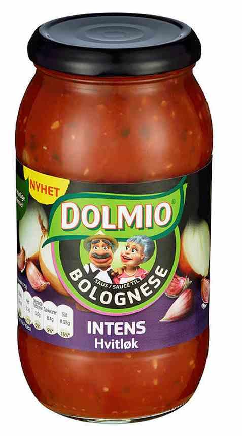 Bilde av Dolmio pastasaus hvitløk intens.