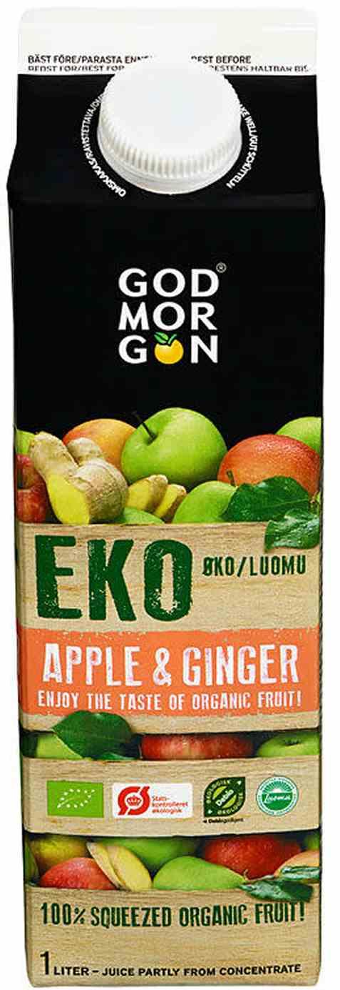 Bilde av Arla God Morgen økologisk eple og ingefærjuice.