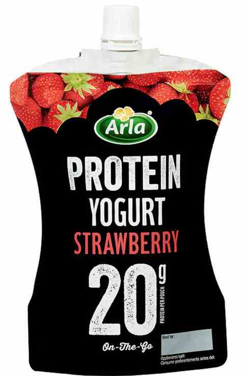 Bilde av Arla Protein yoghurt Strawberry.