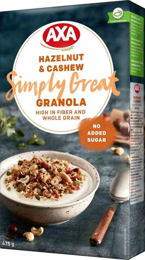 Bilde av Axa granola hazelnut and cashew.