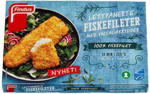 Bilde av Findus Lettpanerte fiskefileter Focacciakrydder.
