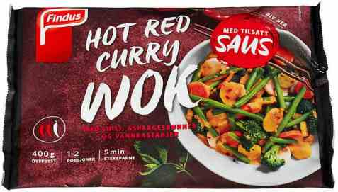 Bilde av Findus Wok hot red curry.