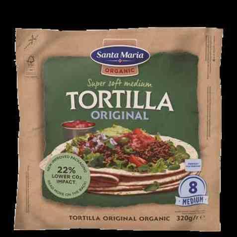 Bilde av Santa Maria tortilla soft økologisk medium.