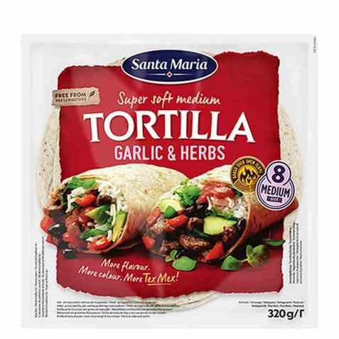 Bilde av Santa Maria tortilla garlic and herbs.