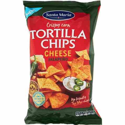 Bilde av Santa maria Tortilla Chips Cheese & Jalapeño.