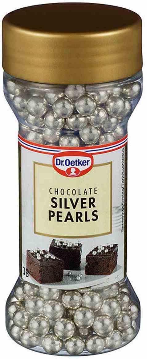 Bilde av DrOetker sølvperler.