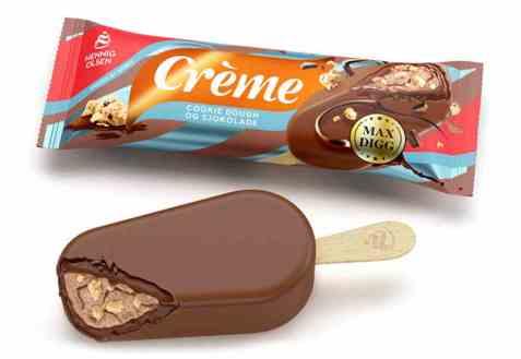 Bilde av Hennig Olsen Crème Cookie Dough og Sjokolade.