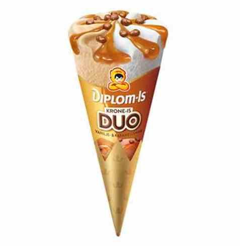 Bilde av Diplom-is Krone Is Duo karamell og vanilje.