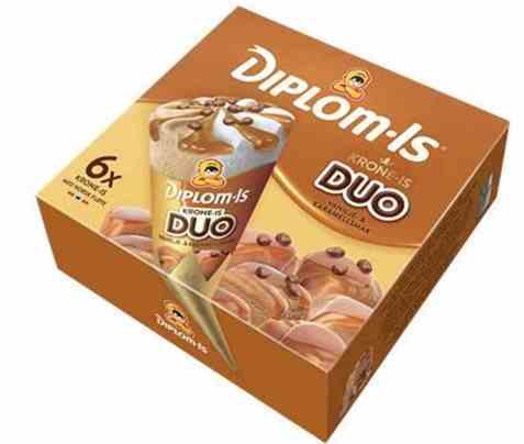 Bilde av Diplom-is Krone Is Duo karamell og vanilje 6pk.