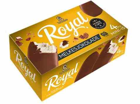 Bilde av Diplom-is royal melkesjokolade mini 4pk.