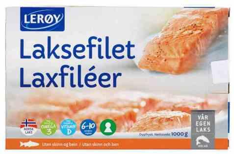 Bilde av Lerøy Laksefilet 1 kg frys.