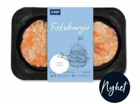 Bilde av Lerøy fiskeburger laks og torsk.