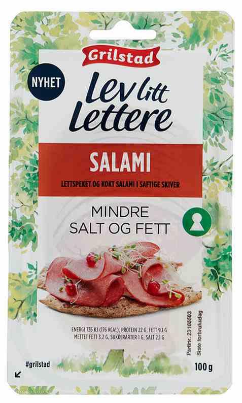 Bilde av Grilstad lev litt lettere salami.