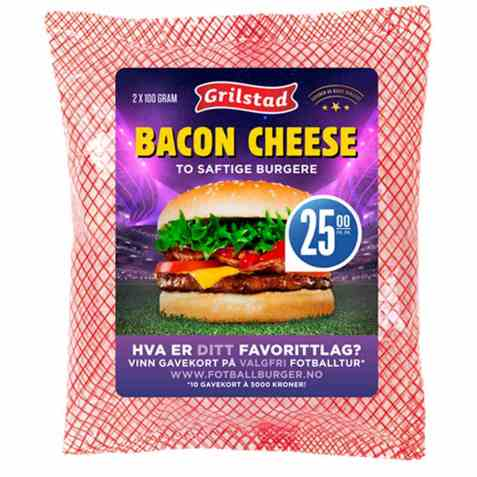 Bilde av Grilstad bacon cheese.