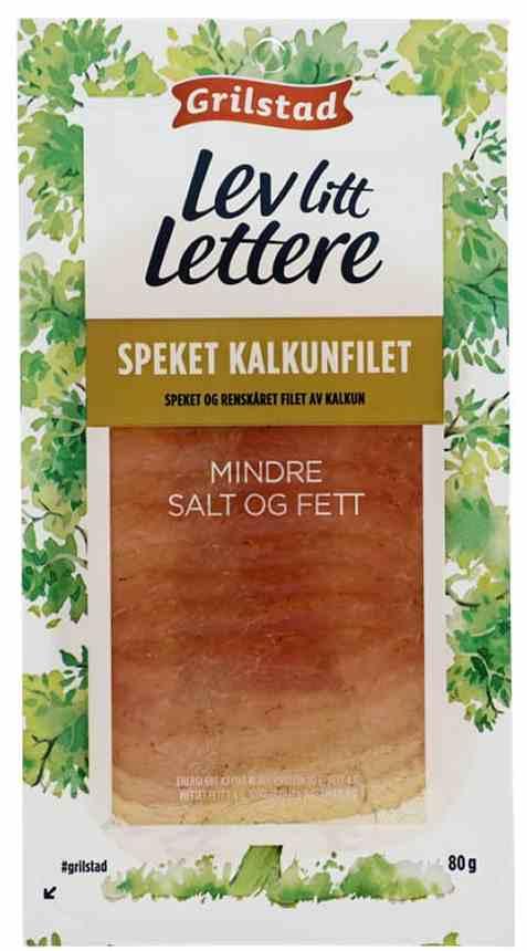 Bilde av Grilstad lev litt lettere speket kalkunfilet.