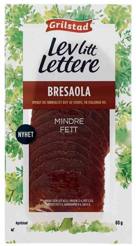 Bilde av Grilstad lev litt lettere bresaola.