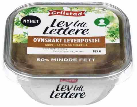 Bilde av Grilstad lev litt lettere Ovnsbakt Leverpostei.