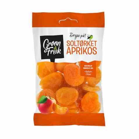 Bilde av Grønn og frisk soltørket aprikos.