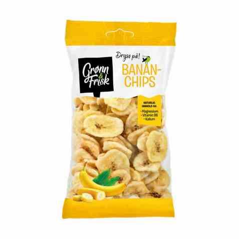 Bilde av Grønn og frisk bananchips.