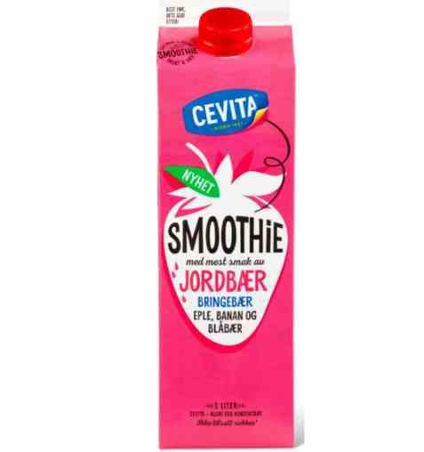 Bilde av Cevita smoothie jordbær bringebær.