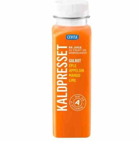 Bilde av Cevita kaldpresset juice av gulrot appelsin og mango.