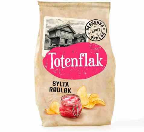 Bilde av Totenflak Sylta rødløk.
