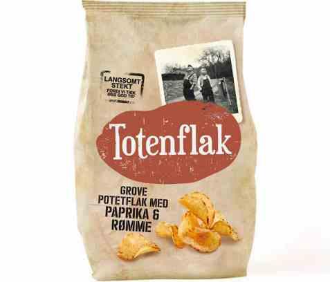 Bilde av Totenflak med paprika og rømme.