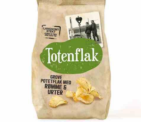 Bilde av Totenflak med rømme og urter.