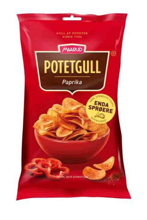 Bilde av Maarud Potetgull® Paprika 40 gr.