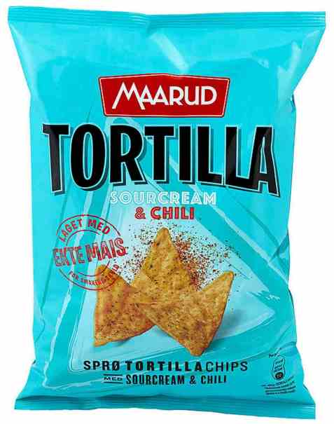 Bilde av Maarud Tortillachips sourcream and chili.