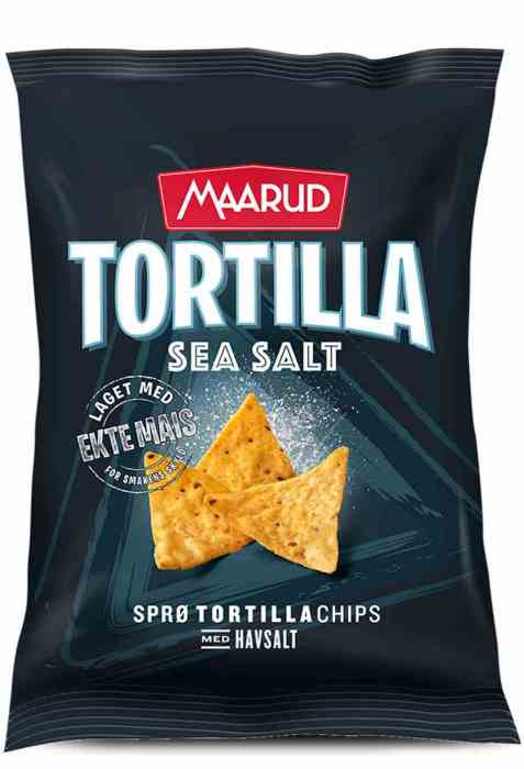 Bilde av Maarud Tortillachips sea salt.