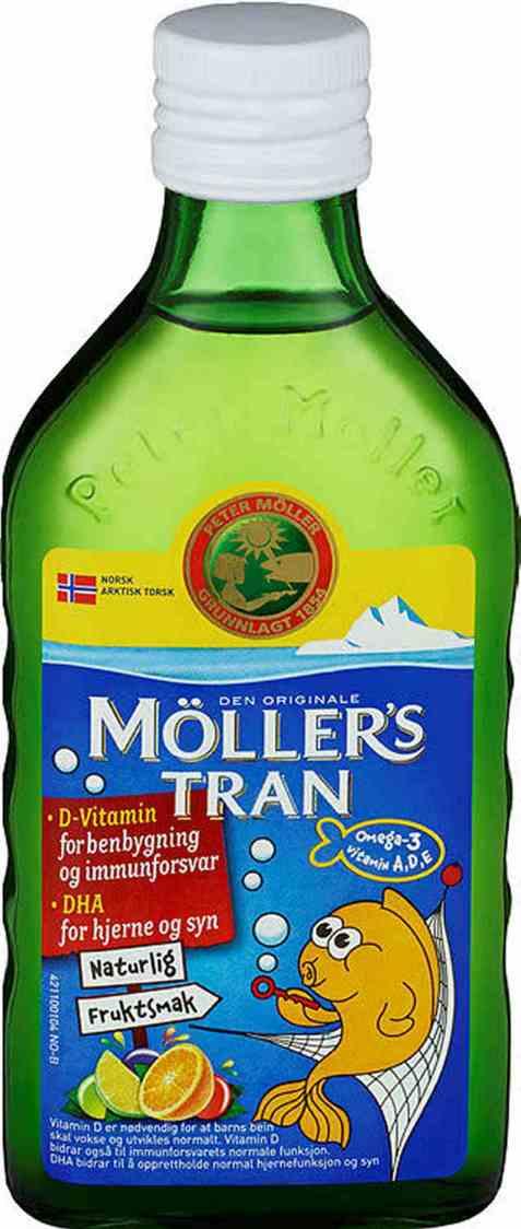 Bilde av Møllers Tran fruktsmak 250 ml.