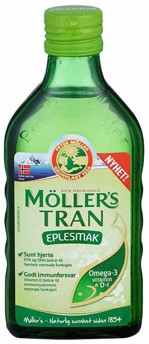 Bilde av Møllers Tran eplesmak 250 ml.