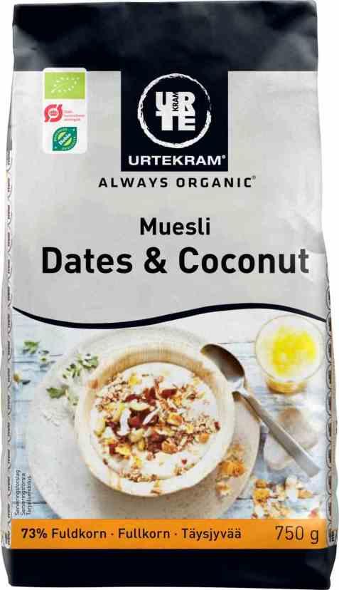 Bilde av Urtekram mysli daddel og kokos.