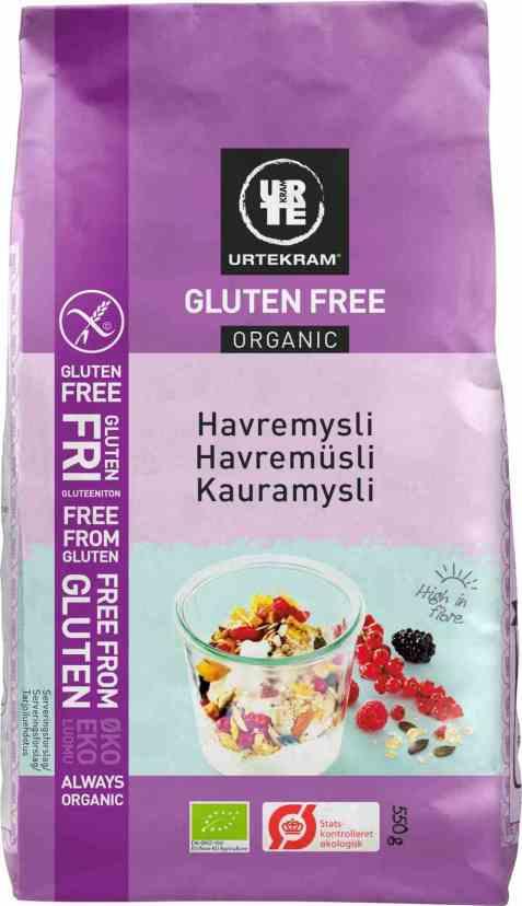 Bilde av Urtekram havremysli glutenfri.